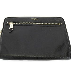 Cole Haan Black Leather Tablet Case